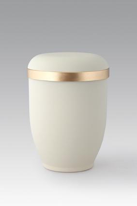 BIO Urne Creme mit Goldborte