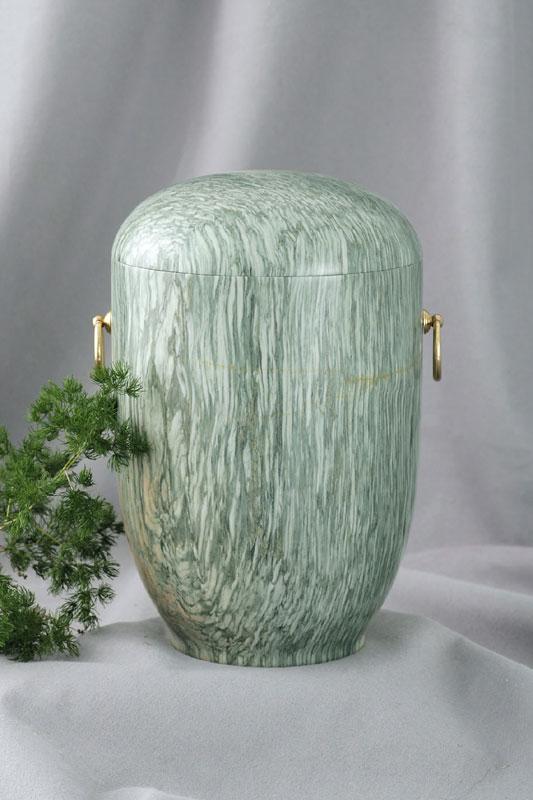 Marmorurne jade-grün
