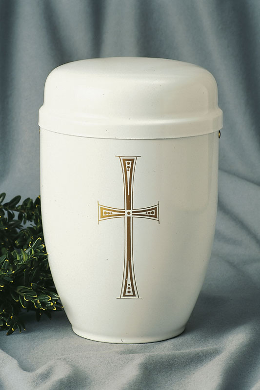 Cestalurne weiß Kreuz