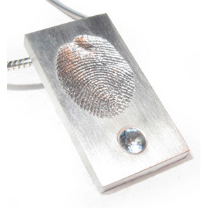 Fingerabdruck Modell 3 Silber mit Zirkonia
