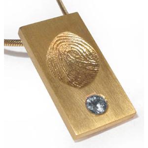 Fingerabdruck Modell 3 Gold mit Zirkonia